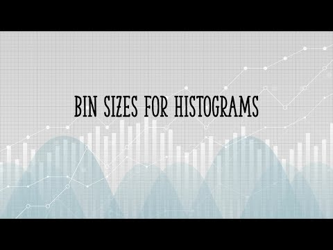 How to choose bin sizes for histograms