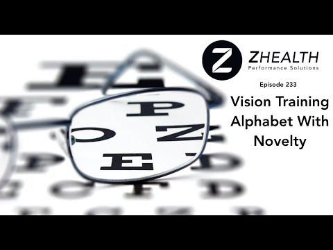 Vision Training Alphabet With Novelty
