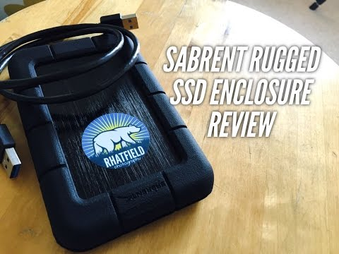 SABRENT Rugged Shockproof USB 3.0 Hard Drive Enclosure REVIEW