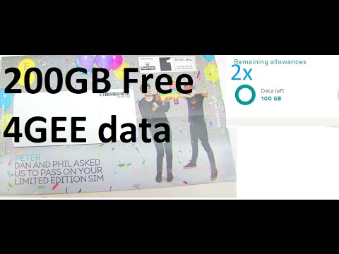 200GB Free 4G Data - 4GEE Dan and Phil SIM Card. No, seriously FREEE!