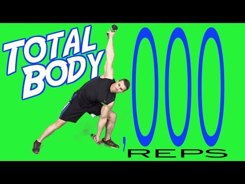 Total Body Strength Training Workout (1,000 Reps)