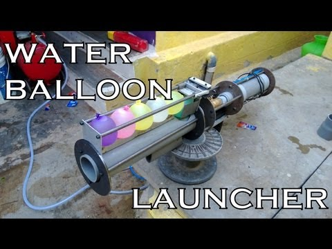 Water balloon launcher homemade the best of its kind