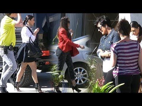 The Kardashian Klan Filming Reality Show At Casket Factory [2012]