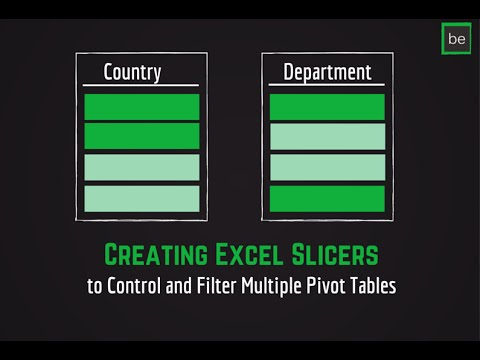 Step 3: Creating Excel Slicers to Control and Filter Multiple Pivot Tables at Once