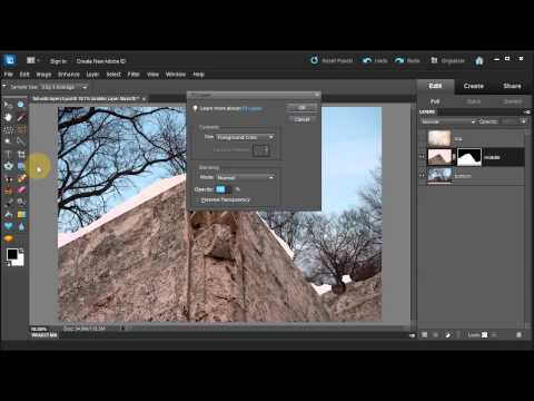 Combining three layers into one with Adobe Photoshop Elements 10 - Part Three