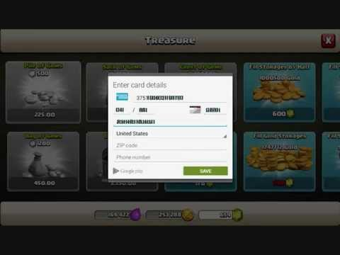 How to buy Clash of Clan gems using (Virtual AmEx credit card)