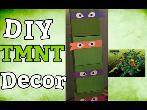 DIY TMNT Box decor Teenage Mutant Ninja Turtles Birthday party