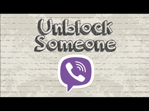 How to unblock someone on Viber
