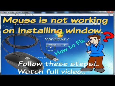 How to fix mouse or keyboard is not working on installing window