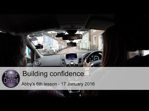 Building confidence...Abby's 6th lesson - 17th January 2016.