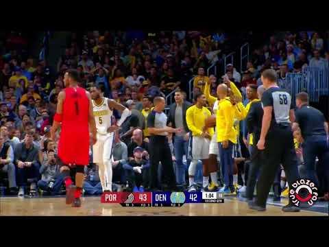 Portland Trail Blazers vs Denver Nuggets - Full Game Highlights - April 9, 2018