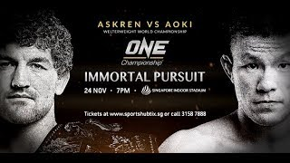 Ben Askren Takes on Shinya Aoki in Retirement Fight at ONE: Immortal Pursuit