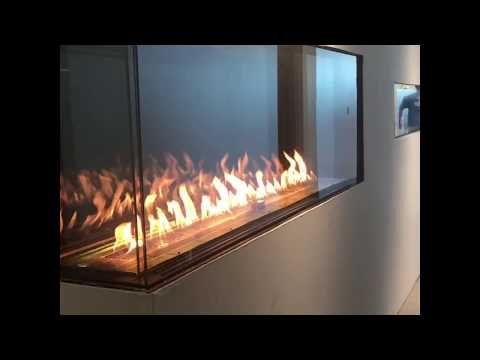 Flare-LC-80-H corner linear gas fireplace