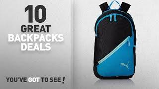 Puma Backpacks Sale - 50% Off Or More: Puma 17 Ltrs Black-Light Blue Casual Backpack (7512101)