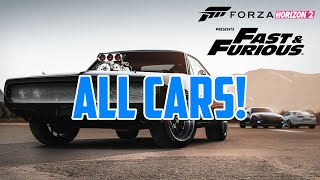 Forza Horizon 2 | Fast & Furious 7 DLC | All Cars