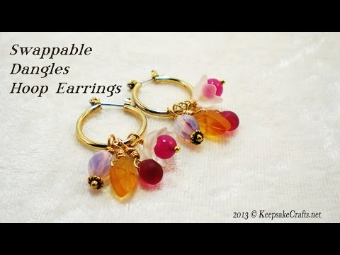 Custom Swappable Earring Dangles Video Tutorial