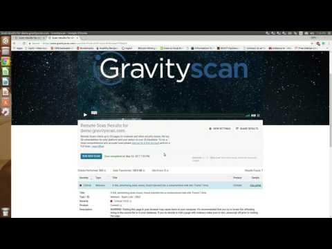 Gravity Scan online website vulnerability scanner