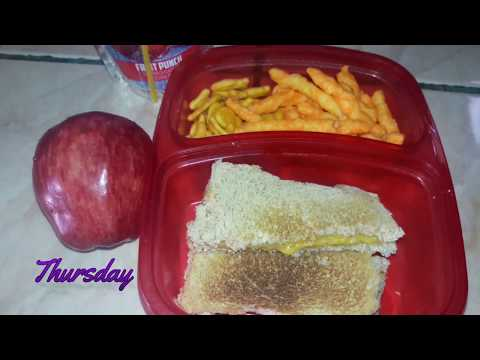 A Week Of Preschool lunches + What He Ate