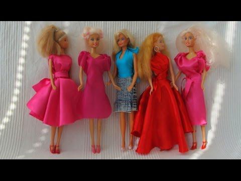 5 NO-Sew doll dresses (Barbie, Monster High)