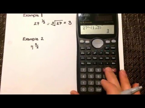 Fraction Exponents : Calculating values where the exponent is a fraction (Casio fx-991ms)