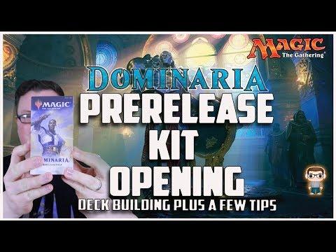 MTG - Dominaria Prerelease Kit Opening - Deck Building Plus Tips