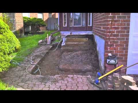 How to Interlock (stone) Front Entrance Steps-