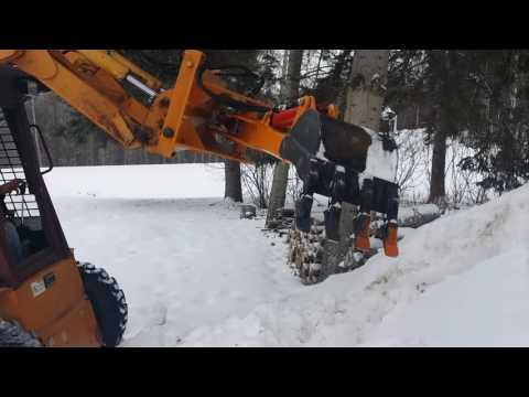 Unique Homemade Skidsteer Backhoe