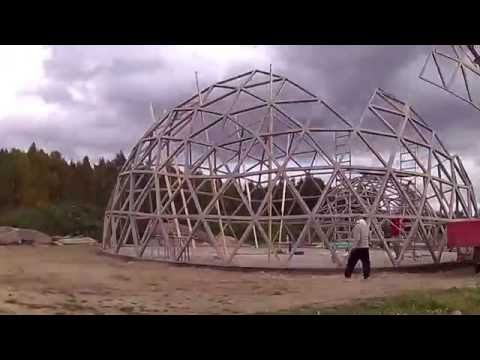Building Good karma Woden GEODESIC  DOME