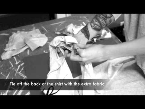FilthandDecay.com - How to make a Tied Back Tank Shirt