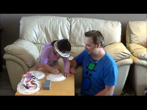 Fun and cheap paper plate party hat for kids