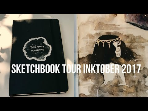 sketchbook tour | Inktober 2017