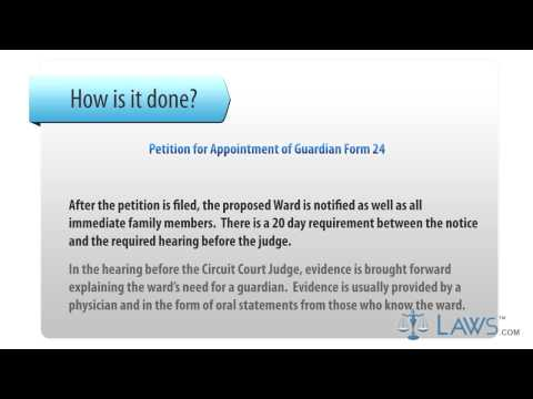 Arkansas Petition for Appointment of Guardian Form 24