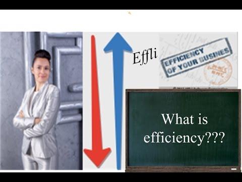 what is efficiency? effli