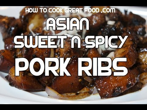 Sweet n Spicy Pork Ribs Recipe - Short Spare Chili Ribs Video