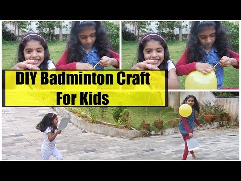 DIY Project/Craft for kids | How to make Badminton Set | Kids Happiness