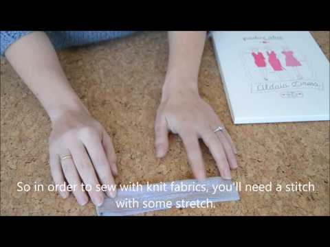 Sewing knit fabric without a serger
