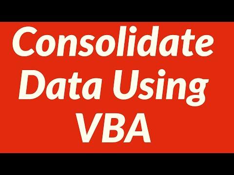Consolidate Data Using VBA