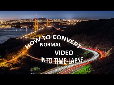 How to convert a video into Timelapse using software [Easiest Trick]