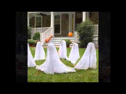 Easy and Cheap Halloween Decorations of DIY Homemade Ideas for Outdoor Party