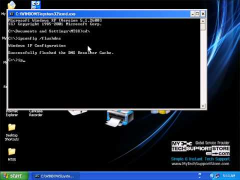 How To Flush And Register DNS Resolver Cache In Windows XP