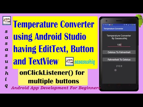 Temperature Converter App | Android App Development video # 05