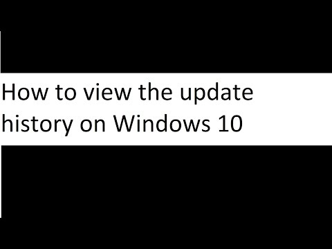 How to view the update history on Windows 10
