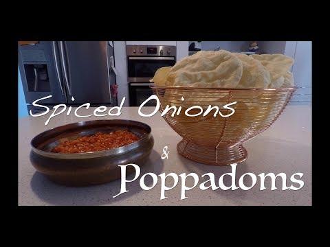 Spiced Onions & Poppadoms recipe