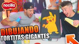DIBUJANDO TORTITAS GIGANTES!! Las MEJORES PANCAKES ARTÍSTICAS XD [bytarifa]