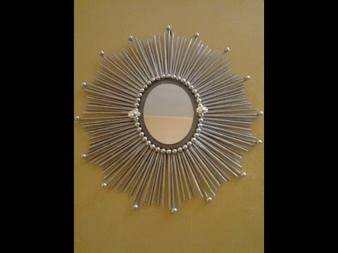 Best Out Of Waste Paper and Mirror Wall decor # 1