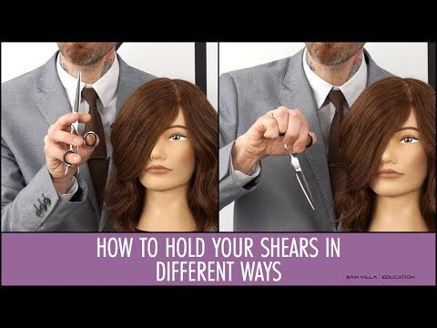 How to Hold Your Shears in Different Ways to Cut Hair Comfortably