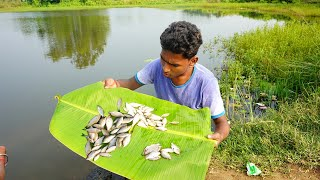 Pukurei Mach Dhore Vaja | Fishing and Frying in the Pond- Rural Village Life