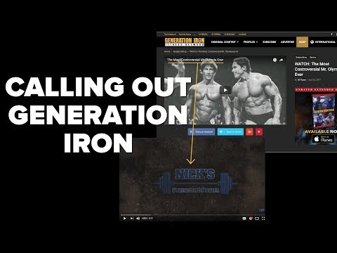 Generation Iron - STOP Using Nick's Strength and Power Videos