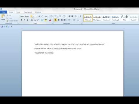 How to Change Font Face and Size in MS Word Document