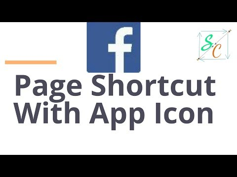 Facebook page shortcut with app icon view